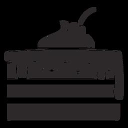 Pastel en capas con glaseado negro