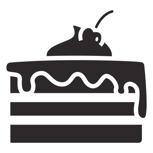 Layered cake with icing black