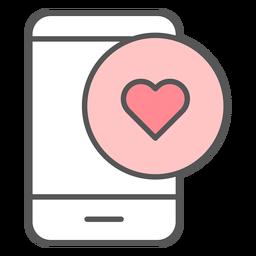 Ícone de cor de notificação de app como