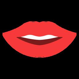 Lips smile flat