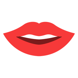 Os lábios sorriem