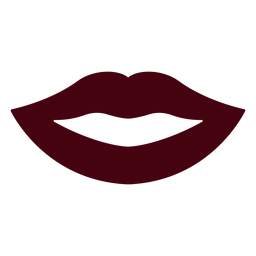 Lábios sorriam silhueta