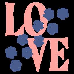 Pegadas de amor com letras de patas