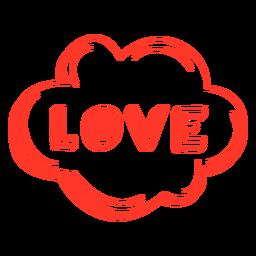 Liebe Schriftzug mit Pfote