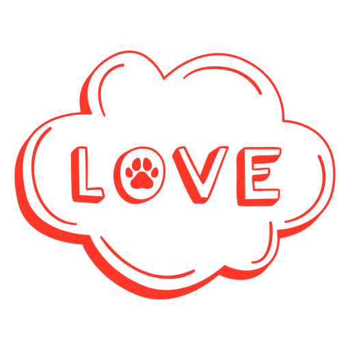 Love lettering with paw