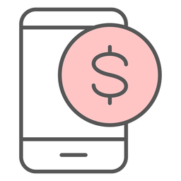 Icono de color de notificación de la aplicación de dinero