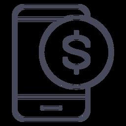 Icono de notificación de la aplicación de dinero