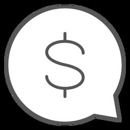 Dinheiro na bolha de conversa