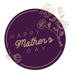 Mothers day badge mothers day