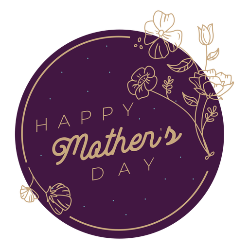 Mothers day badge mothers day Transparent PNG