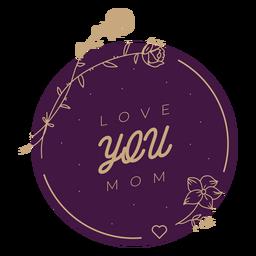 Insignia de amor del día de la madre
