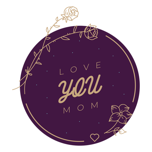 Mothers day love badge Transparent PNG