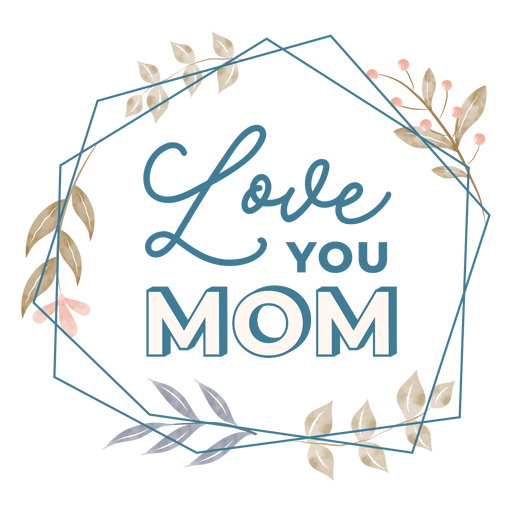 Mothers day love lettering Transparent PNG