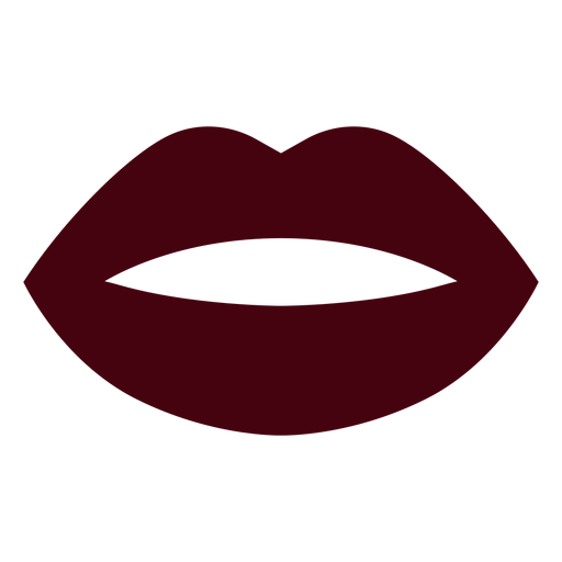 Mouth silhouette