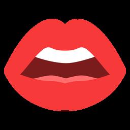 Labios de boca abierta planos