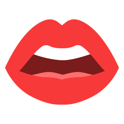 Open mouth lips flat