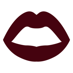 Open mouth lips silhouette