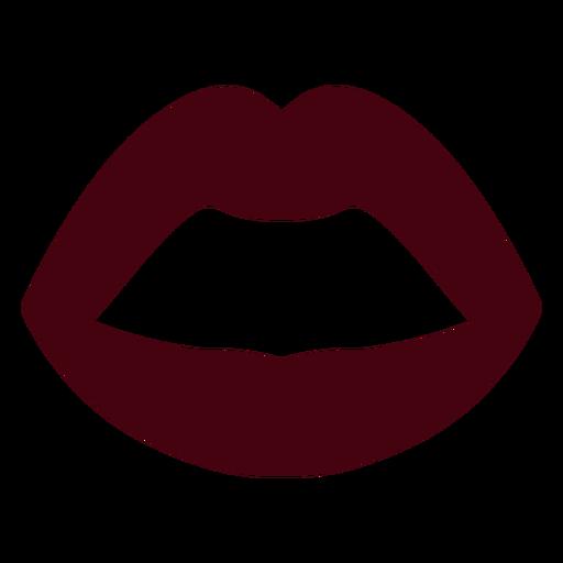 Silueta de labios de boca abierta