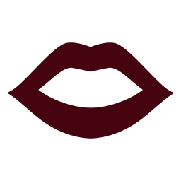 Silhueta de boca aberta