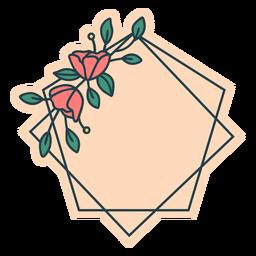 Pentagon floral frame