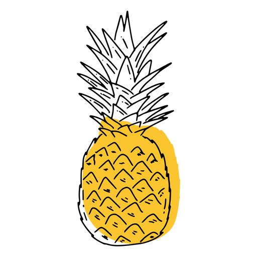 Pineapple flat Transparent PNG