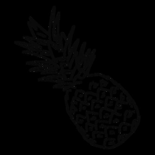 Pineapple stroke Transparent PNG