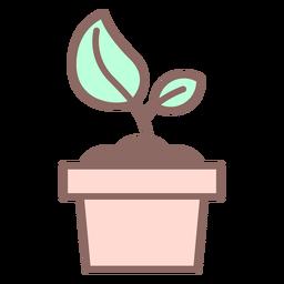 Icono de planta en maceta