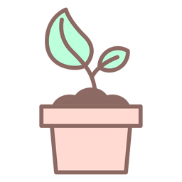 Plant in pot icon