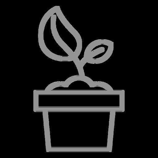 Plant in pot stroke