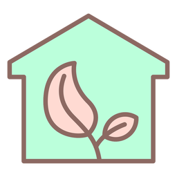 Plant inside house icon
