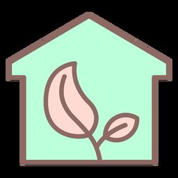 Planta dentro del icono de la casa