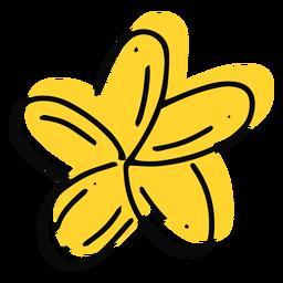 Plumeria flor amarilla trazo