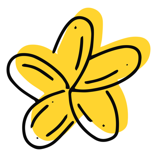 Plumeria flower yellow stroke Transparent PNG