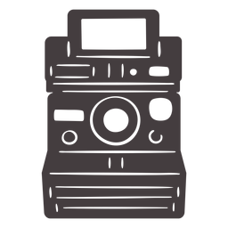 Icono de cámara Polaroid negra