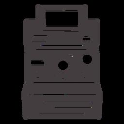 Icono de cámara Polaroid negro