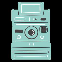 Diseño dibujado a mano de cámara polaroid
