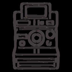 Icono de trazo de cámara Polaroid