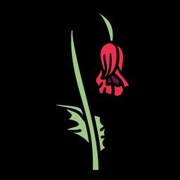 Flor de papoula murcha desenhada à mão