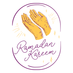 Dibujado a mano rezando ramadan kareem