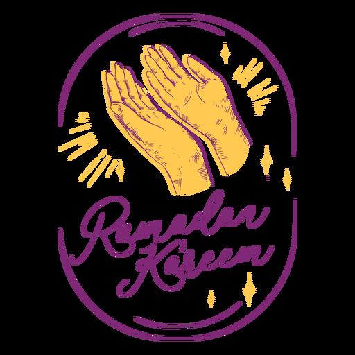Praying ramadan kareem hand drawn