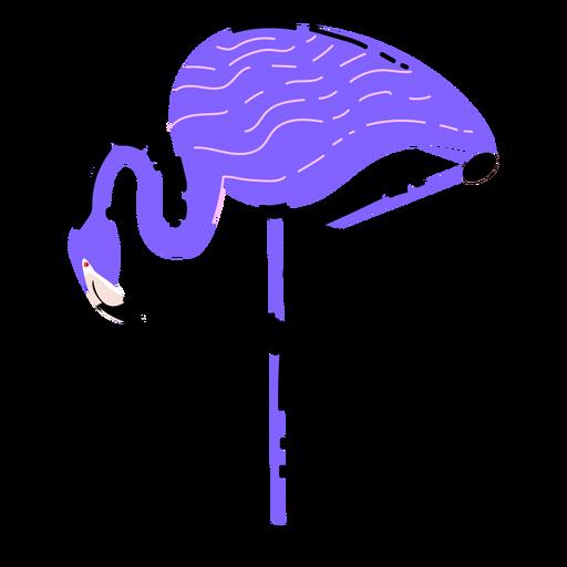 Purple flamingo flat