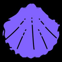 Concha morada plana