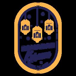 Emblema de luzes kareem do Ramadã