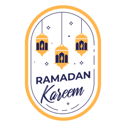Ramadan kareem lights badge
