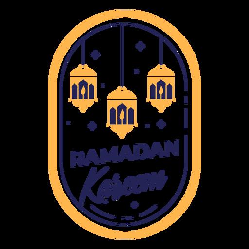 Ramadan kareem lights badge