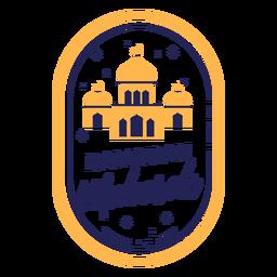 Ramadan Mubarak Farbe Moscheen Abzeichen