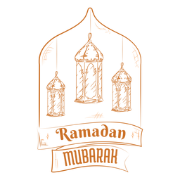 Ramadan mubarak lights badge