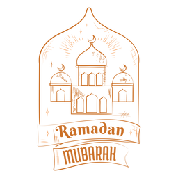 Ramadan mubarak mosques badge