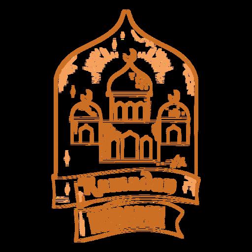 Ramadan mubarak mosques badge