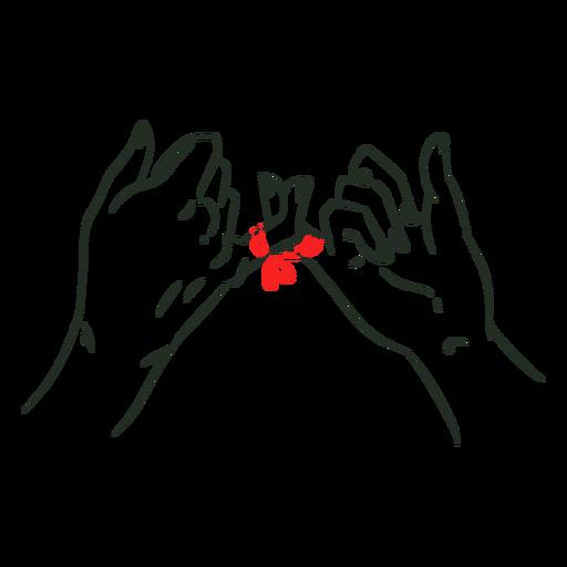 Cordão vermelho de dedos mínimos do destino Transparent PNG